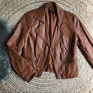 Cognac Motorcycle jacket